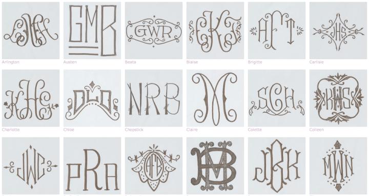 Leontine Linens Monograms